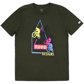 Topo Designs Bikes Koszulka z krótkim rękawem Mężczyźni, oliwkowy